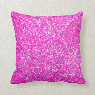 Brillo rosado almohada
