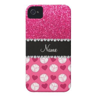 Brillo rosado conocido de encargo del rosa color d iPhone 4 fundas