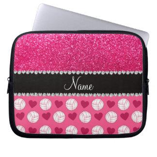 Brillo rosado conocido de encargo del rosa color d fundas portátiles