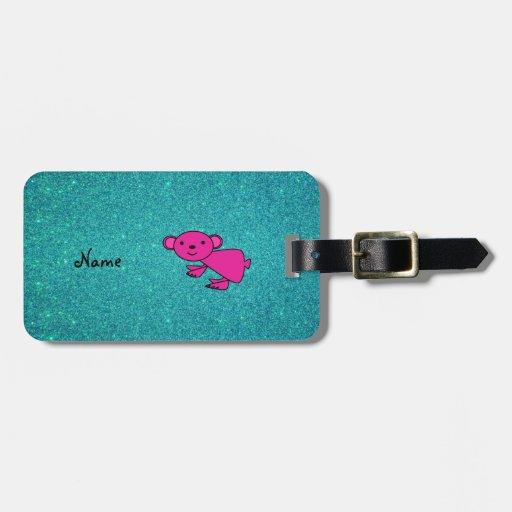 Brillo rosado conocido personalizado de la koala etiquetas de maletas