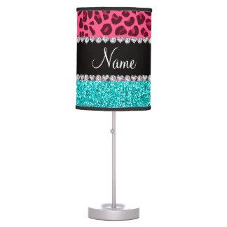 Brillo rosado conocido personalizado de la lámpara de mesa