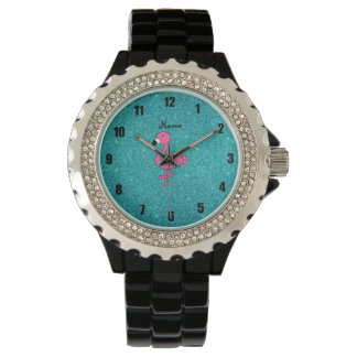 Brillo rosado conocido personalizado de la relojes de mano