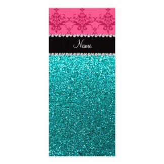Brillo rosado conocido personalizado de la tarjetas publicitarias personalizadas