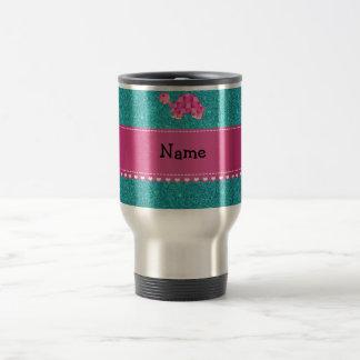 Brillo rosado conocido personalizado de la taza térmica