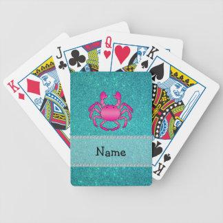 Brillo rosado conocido personalizado de la turques baraja de cartas