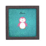 Brillo rosado conocido personalizado de la turques caja de recuerdo de calidad