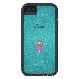 Brillo rosado conocido personalizado de la turques iPhone 5 Case-Mate protector