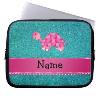 Brillo rosado conocido personalizado de la turques fundas computadoras