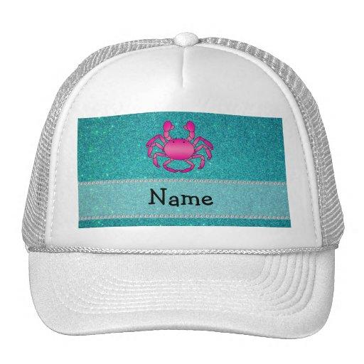 Brillo rosado conocido personalizado de la turques gorra