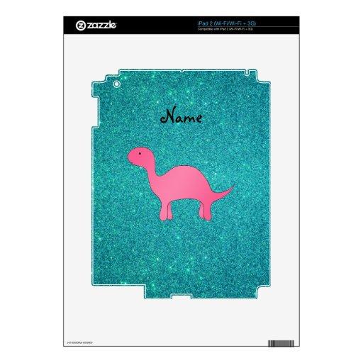 Brillo rosado conocido personalizado de la turques skins para iPad 2