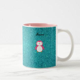 Brillo rosado conocido personalizado de la turques taza de café