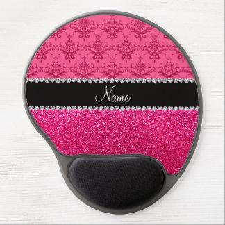 Brillo rosado conocido personalizado del rosa del alfombrillas con gel