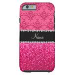 Brillo rosado conocido personalizado del rosa del funda de iPhone 6 tough