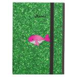 Brillo rosado conocido personalizado del verde de
