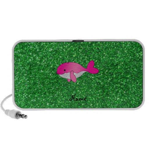 Brillo rosado conocido personalizado del verde de  altavoces de viaje