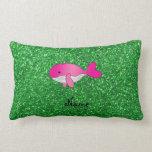 Brillo rosado conocido personalizado del verde de cojín