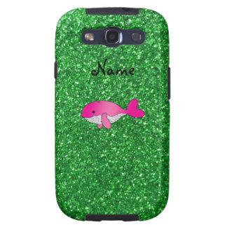 Brillo rosado conocido personalizado del verde de galaxy s3 cobertura