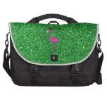 Brillo rosado conocido personalizado del verde del bolsas para portátil
