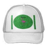Brillo rosado conocido personalizado del verde del gorras