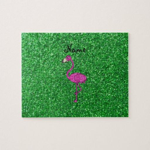 Brillo rosado conocido personalizado del verde del rompecabeza