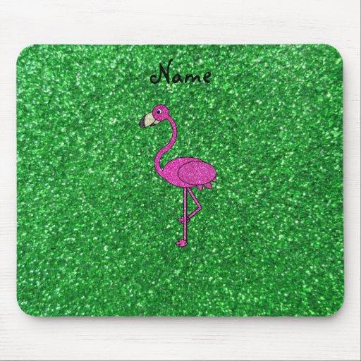 Brillo rosado conocido personalizado del verde del alfombrilla de ratones