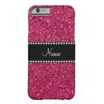 Brillo rosado conocido personalizado funda de iPhone 6 barely there