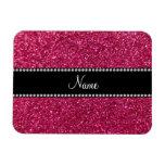 Brillo rosado conocido personalizado imanes rectangulares