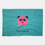Brillo rosado de la turquesa de la cara de la pand toallas