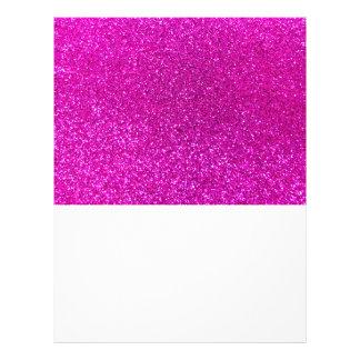 Brillo rosado de neón flyer a todo color