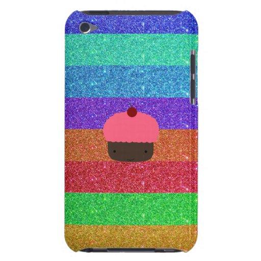 Brillo rosado del arco iris de la magdalena iPod touch Case-Mate carcasa