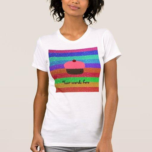 Brillo rosado del arco iris de la magdalena remeras