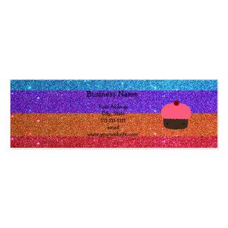 Brillo rosado del arco iris de la magdalena plantillas de tarjetas personales