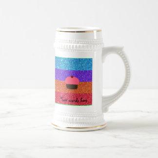 Brillo rosado del arco iris de la magdalena taza