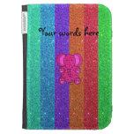 Brillo rosado del arco iris del elefante del brill
