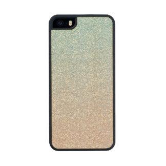 Brillo rosado del cielo falso funda de arce carved® para iPhone 5 slim