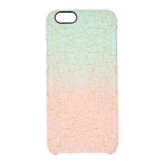Brillo rosado del oro de Ombre de la verde menta Funda Clearly™ Deflector Para iPhone 6 De Uncommon