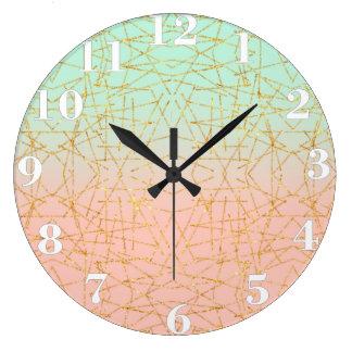 Brillo rosado del oro de Ombre de la verde menta Relojes