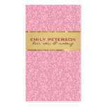 Brillo rosado elegante con acentos del oro plantilla de tarjeta de negocio