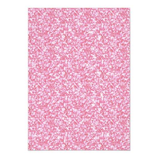 """Brillo rosado femenino impreso invitación 5"""" x 7"""""""