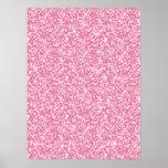 Brillo rosado femenino impreso poster