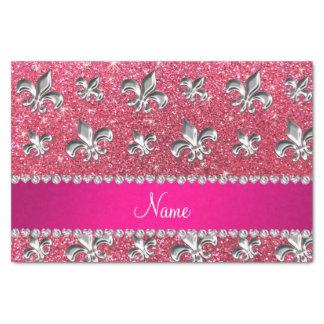 Brillo rosado fucsia de la flor de lis conocida de papel de seda pequeño