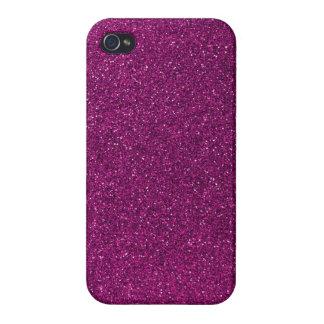 Brillo rosado iPhone 4 funda
