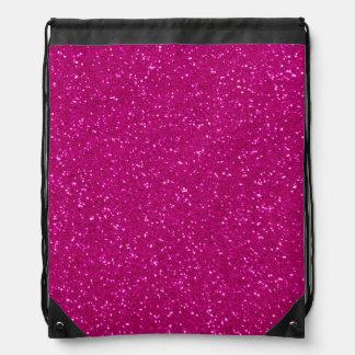 Brillo rosado mochilas