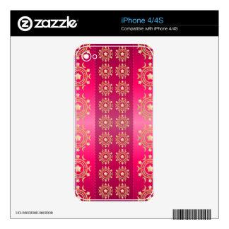 brillo rosado skins para iPhone 4