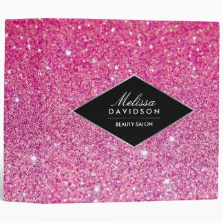 Brillo rosado y carpeta personalizada encanto