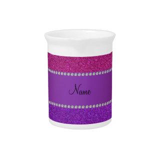 Brillo rosado y púrpura conocido personalizado jarras para bebida