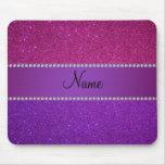 Brillo rosado y púrpura conocido personalizado tapetes de ratones