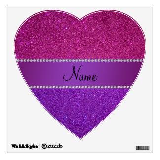 Brillo rosado y púrpura conocido personalizado vinilo