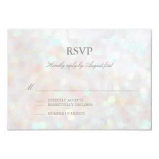 Brillo sutil blanco Bokeh que casa la tarjeta de Invitacion Personalizada