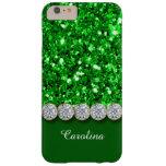 Brillo verde atractivo y caja brillante de los funda de iPhone 6 plus barely there